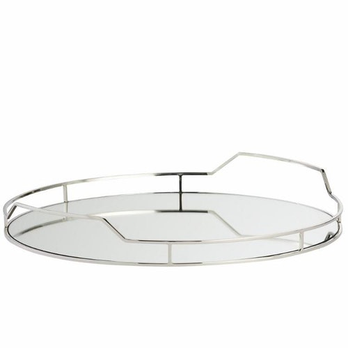 DECORATIVE TRAY Ø51 CM. SILVER