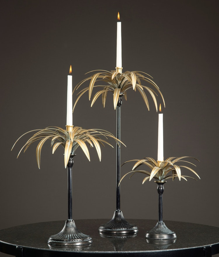 Ljusstake Palm 43x46cm 2st