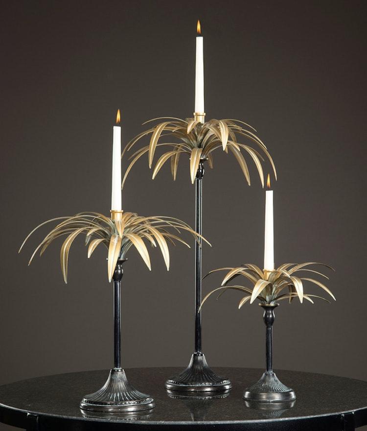 Ljusstake Palm 43x71cm 2st