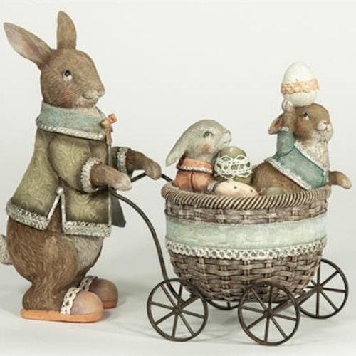 Kanin med barnvagn. 2 st