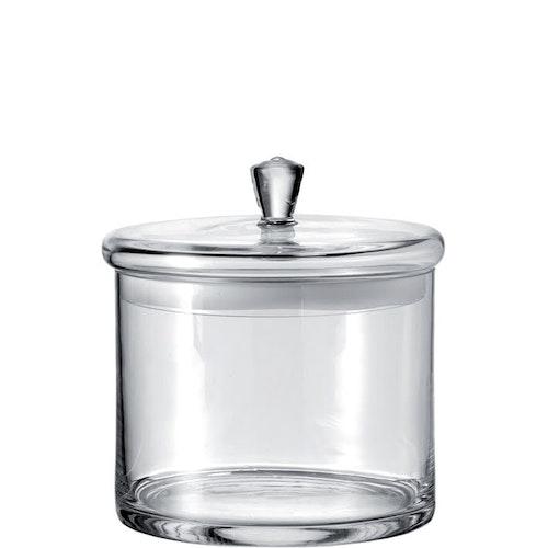 Glasburk med lock 20x18cm