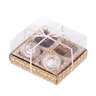 CHOCOLATE BOX/4 PNK/BRWN 5CM. 4 boxar