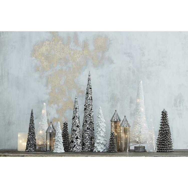 LED CHRISTMAS TREE H68 CM. ANTIQUE SILVER