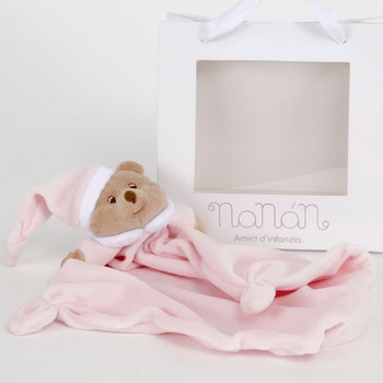 Teether pink- blue-White