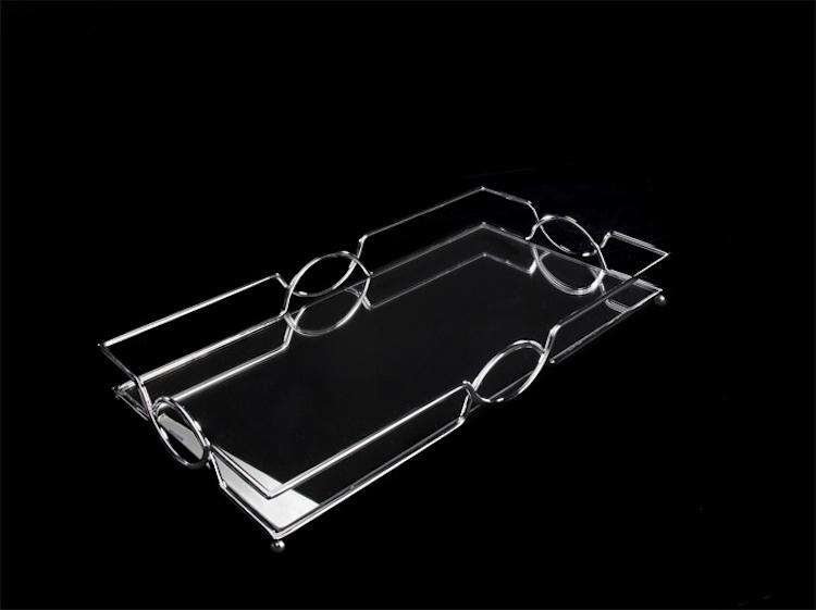 Ljusfat, chrome m/spegel, 45 x 25 x 5 cm.