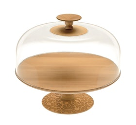 Stand Dressed in wood and Lid in PMMA with knob in beech-wood.