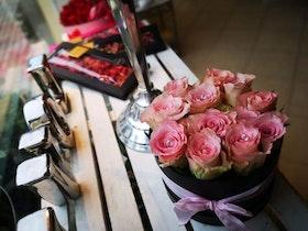 BOX med rosor