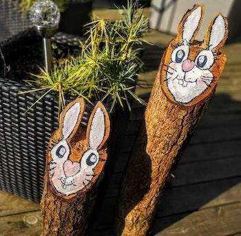 Träprydnad Bunny