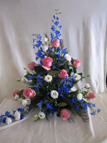 Stående dekoration i blått