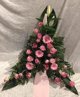 Stående dekoration i rosa