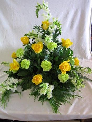 Stående dekoration i gult