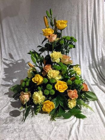Stående dekoration i Aprikos och lime