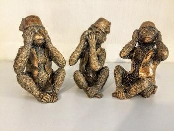 Apor inte se, höra, tala