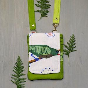 Mobilväska Lite Större fågel-grön