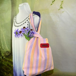 Knot bag Stor rosa-lila