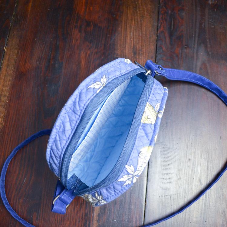 Rund Väska Blå