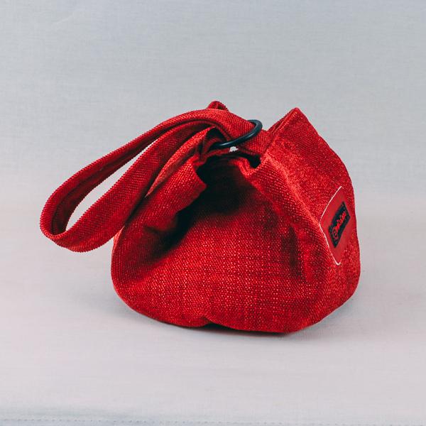 Handledsväska Rund Röd