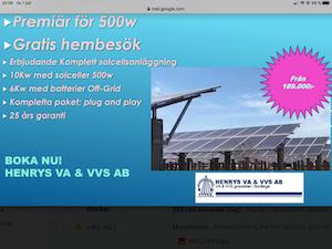 Solcellspaket 10kW