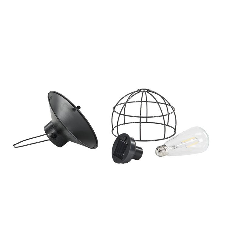 Lampa Solcell på pinne, rund