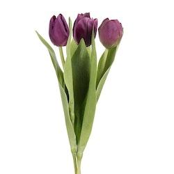 Konstgjord Tulpan 3-pack Mörk Lila