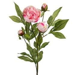 Konstgjord Stor Pion Rosa