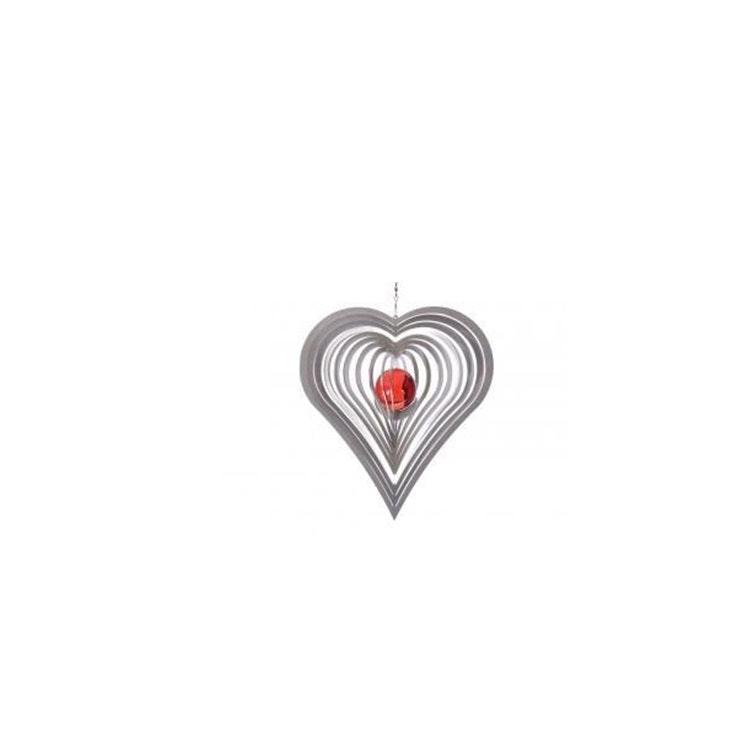 Vindspel Hjärta 35 mm kula