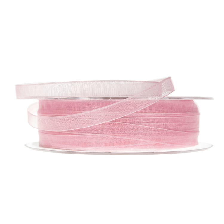 Band Organza Rosa 7 mm
