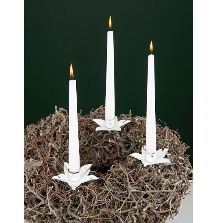 Ljushållare för kronljus 2-pack Antikvit