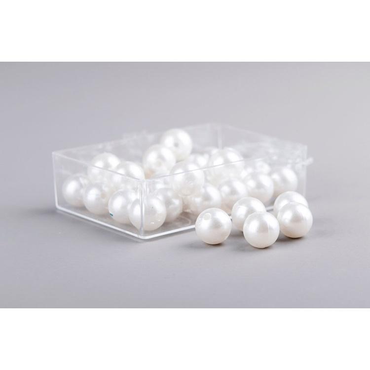 Pärlor Ivory 14mm 35-pack