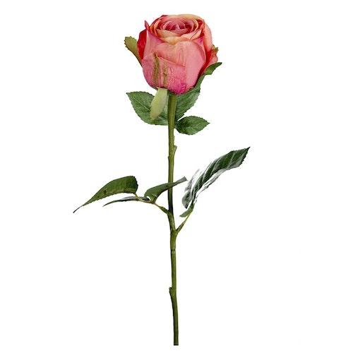 Konstgjord Ros 50 cm Mörkrosa
