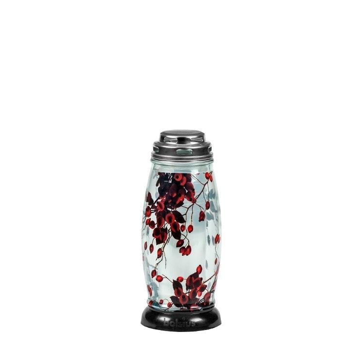 En gravlykta med tryckt mönster av Rönnbär