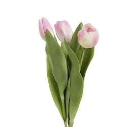 Konstgjord Tulpan 3-pack rosa
