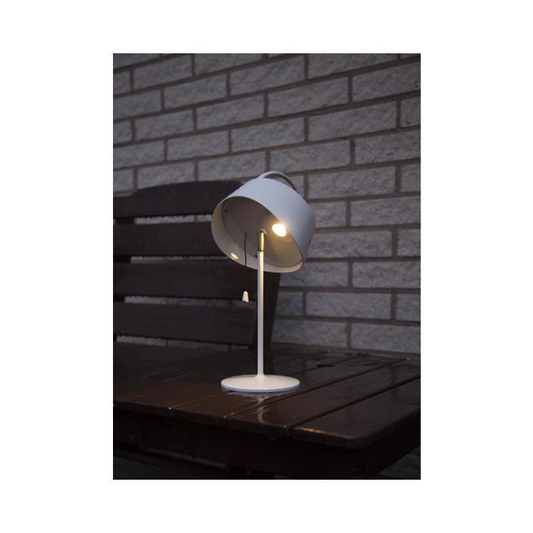 Bordslampa solcell med tiltbar skärm