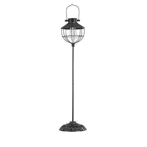 Lampa Solcell på stativ, rund