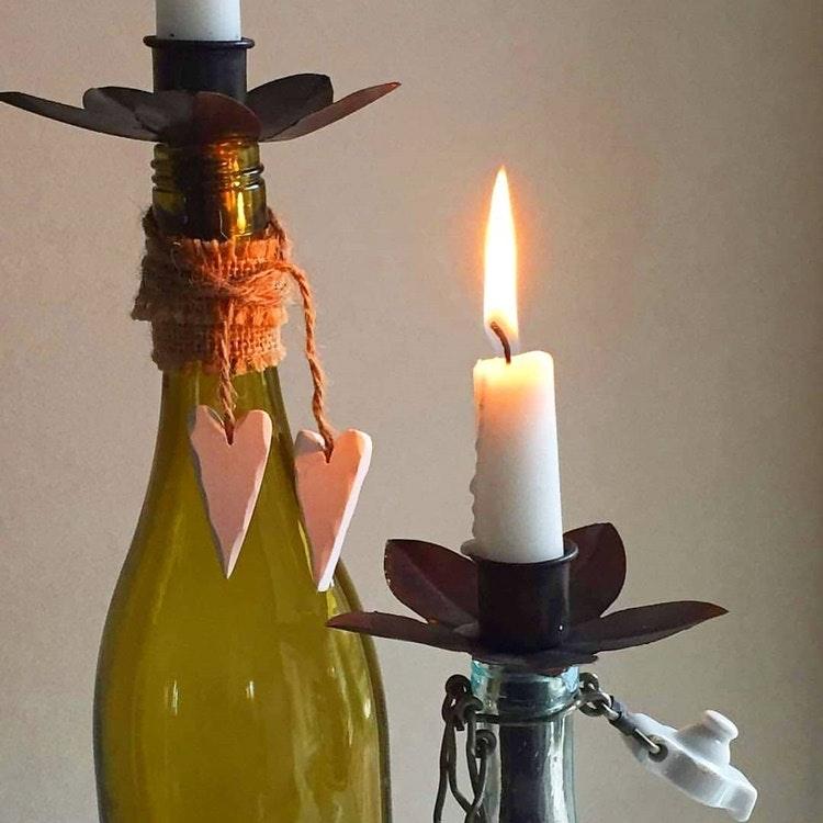 Ljushållare för kronljus 2-pack