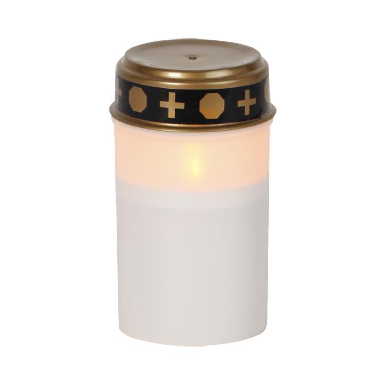 Batteridrivet LED gravljus med lock