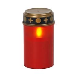 Batteridrivet LED gravljus med lock, rött