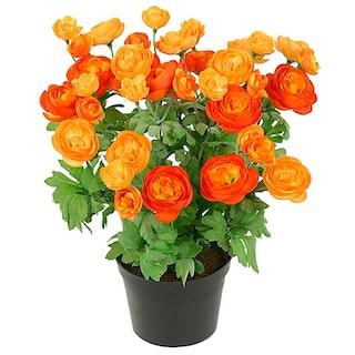 Konstgjord Ranunkel orange 30cm