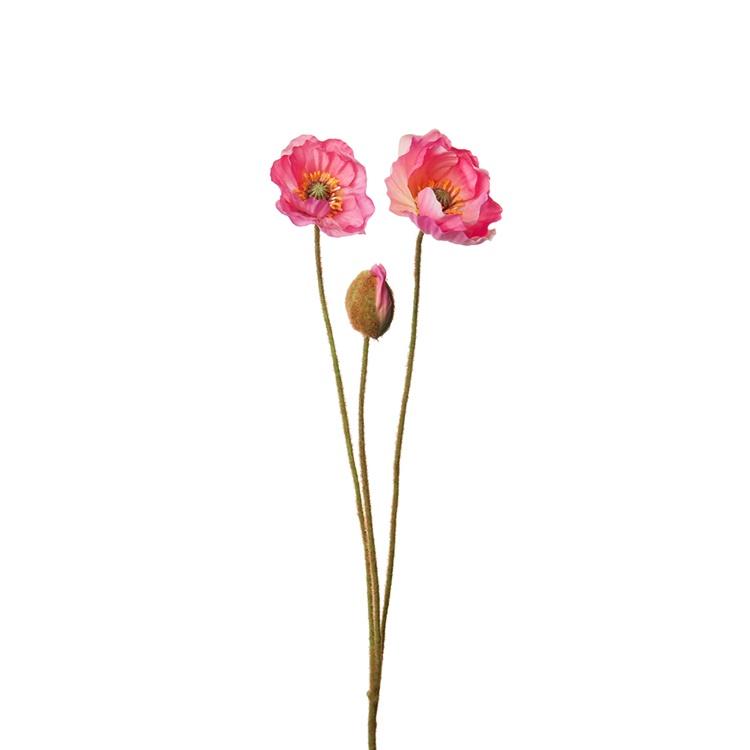 Konstgjord Vallmo, rosa 75 cm