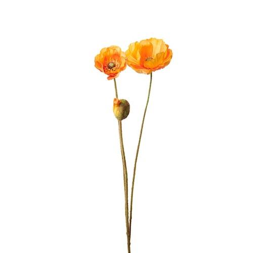 Konstgjord Vallmo, orange 75 cm