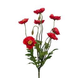 Konstgjord Vallmo, röd 35 cm