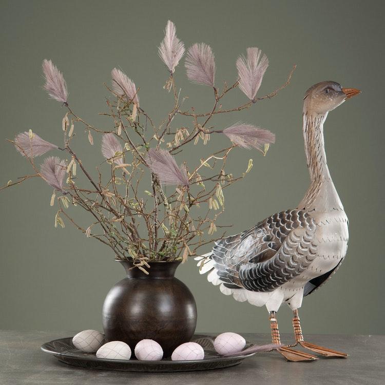 Syntetisk fjäder, lila