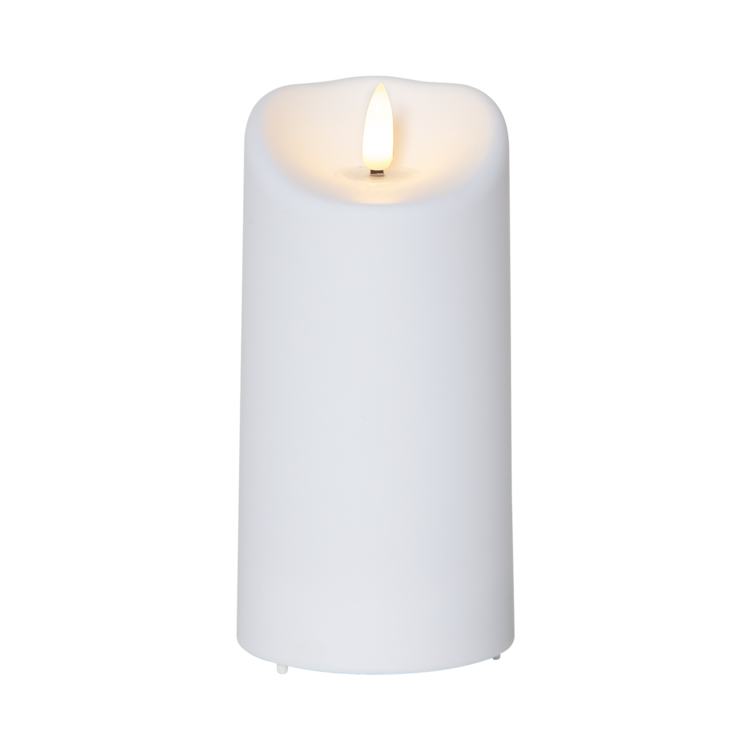 LED blockljus Flamme 15 cm