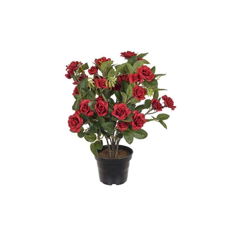 Konstgjord Ros i kruka, Röd