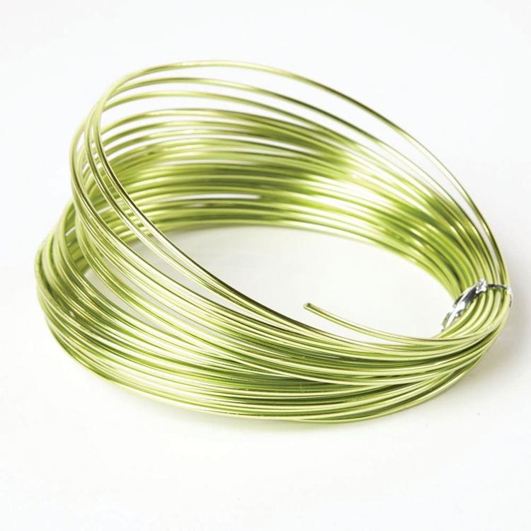 Aluminiumtråd grön