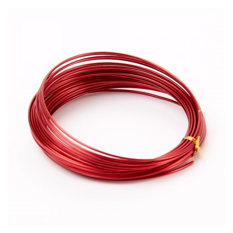 Aluminiumtråd Röd