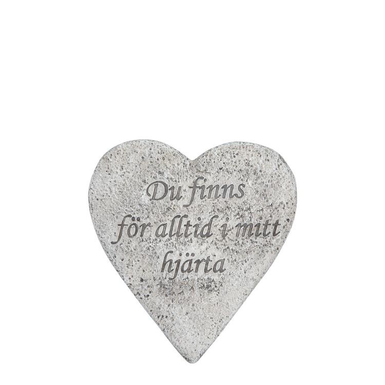 """Hjärta """"Du finns för alltid i mitt hjärta"""""""
