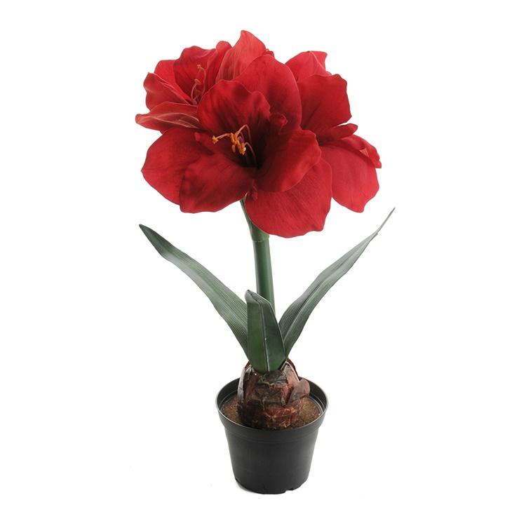 Konstgjord Amaryllis 45 cm Röd
