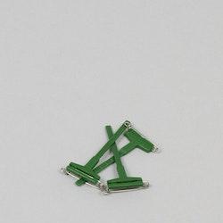 Corsagenålar (Gala-Clips) 3-pack grön