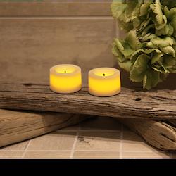 Batteridrivna LED värmeljus 2-pack